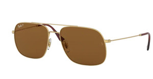 RAY BAN RB3595 901383 Rubber Arista Square Unisex 59 mm Polarized Sunglasses