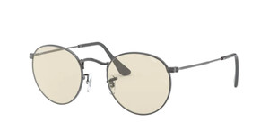 RAY BAN RB3447 004 T2 Gunmetal Round Unisex 53 mm Sunglasses