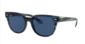 RAY BAN RB4368N 643280 Striped Blue Square Unisex 39 mm Sunglasses