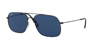 RAY BAN RB3595 901480 Rubber Black Rectangle Men's 59 mm Sunglasses