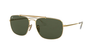 RAY BAN RB3560 001 Gold Square Men's 61 mm Sunglasses