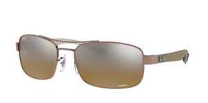 RAY BAN RB8318CH 121/A2 Brown Rectangle Men's 62 mm Polarized Sunglasses
