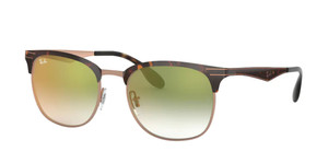 RAY BAN RB3538 9074W0 Havana Square Unisex 53 mm Sunglasses