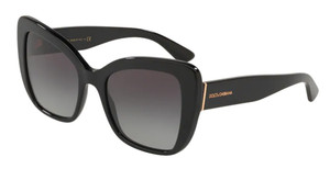 DOLCE & GABBANA DG4348 501 8G Black Square Women's 54 mm Sunglasses