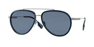 BURBERRY BE3125 100380 Gunmetal Pilot Men's 59 mm Sunglasses