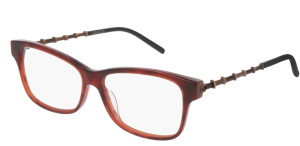 GUCCI GG0657O 002 Brown Rectangle Women's 54 mm Eyeglasses