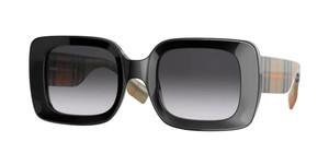 BURBERRY BE4327 37578G Black Square Women's 51 mm Sunglasses