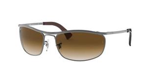 RAY BAN RB3119 916451 Gunmetal Rectangle Unisex 62 mm Sunglasses