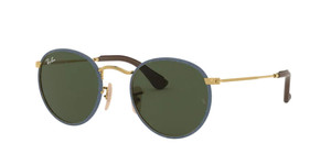 RAY BAN RB3475Q 919431 Blue Jeans on Arista Round Men's 50 mm Sunglasses