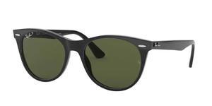 RAY BAN RB2185 901 58 Black Round 55 mm Polarized Sunglasses