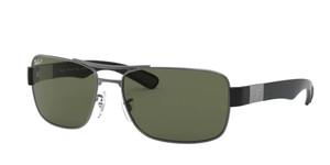 RAY BAN RB3522 004 9A Gunmetal Square Men's 61 mm Polarized Sunglasses