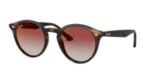 RAY BAN RB2180F 710 V0 Havana Round Women's 49 mm Sunglasses