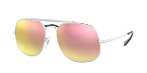 RAY BAN RB3561 003 7O Silver Square Men's 57 mm Sunglasses