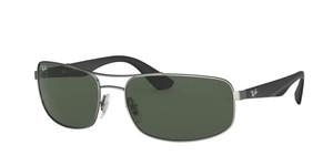 RAY BAN RB3527 029 71 Matte Gunmetal Rectangle Men's 61 mm Sunglasses