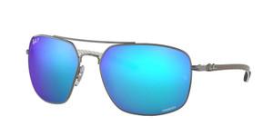 RAY BAN RB8322CH 004 A1 Gunmetal Square Men's 62 mm Polarized Sunglasses