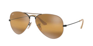RAY BAN RB3025 9153AG Matte Black Pilot 55 mm Sunglasses