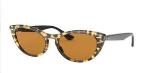 RAY BAN RB4314N 12483L Havana Cat Eye Women's 54 mm Sunglasses