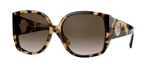 BURBERRY BE4290 327813 Light Havana Square Women's 61 mm Sunglasses