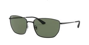 RAY BAN RB3653 002 71 Black Square Men's 60 mm Sunglasses