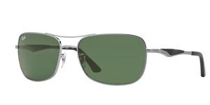 RAY BAN RB3515 004 71 Gunmetal Square Men's 61 mm Sunglasses
