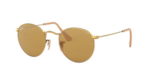 RAY BAN RB3447 90644I Gold Round Unisex 50 mm Sunglasses