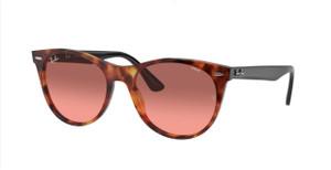 RAY BAN RB2185 1249AA Red Havana Unisex 55 mm Sunglasses