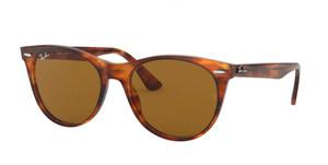 RAY BAN RB2185 954 33 Striped Havana Round Unisex 55 mm Sunglasses
