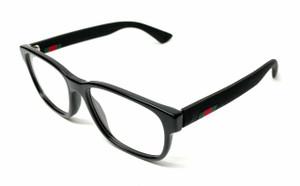 GUCCI GG0011O 005 Black Men's Authentic Eyeglasses Frame 55 mm