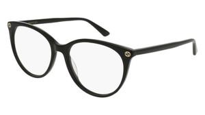 GUCCI GG0093O 001 Black Round Women's 53 mm Eyeglasses