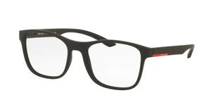 PRADA VPS 08G DG0-1O1 Black Rubber Square Men's 54 mm Eyeglasse