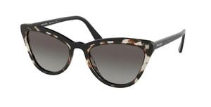 PRADA SPR 01V 398-0A7 Opal Spotted Brown Cat Eye Women's 56 mm Sunglasses