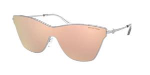 MICHAEL KORS MK1063 1001M5 Silver Rectangle 44 mm Polarized Sunglasses