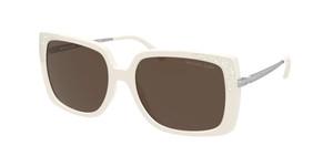 MICHAEL KORS MK2131 334273 White Rectangle Women's 56 mm Sunglasses