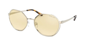MICHAEL KORS MK1072 1014V9 Light Gold Round Women's 57 mm Sunglasses