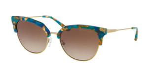 MICHAEL KORS MK1033 334413 Teal Mosaic Square 54 mm Women's Sunglasses