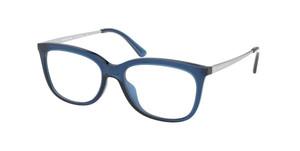 MICHAEL KORS MK4073U 3221 Blue Transparent Rectangle 50 mm Women's Eyeglasses
