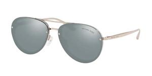 MICHAEL KORS MK2101 39321U Milky Grey Pilot Women's 60 mm Sunglasses