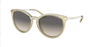 MICHAEL KORS MK1077 101411 Light Gold Round Women's 54 mm Sunglasses