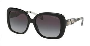 MICHAEL KORS MK2081 30058G Black Rectangle Women's 56 mm Sunglasses