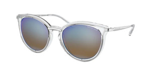 MICHAEL KORS MK1077 1153Y7 Silver Clear Round Women's 54 mm Sunglasses