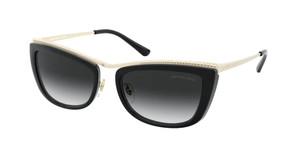 MICHAEL KORS MK1064 10148G Light Gold Black Rectangle Women's 56 mm Sunglasses