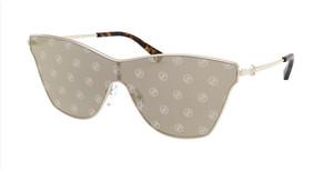 MICHAEL KORS MK1063 1014E Light Gold Rectangle Women's 44 mm Sunglasses