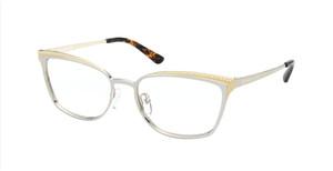 MICHAEL KORS MK3038 1153 Silver Gold Rectangle Women's 52 mm Eyeglasses