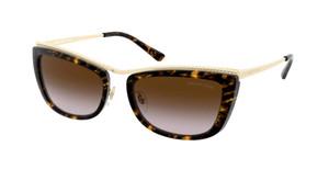 MICHAEL KORS MK1064 101413 Dark Tortoise Rectangle Women's 56 mm Sunglasses
