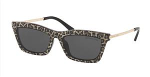 MICHAEL KORS MK2087U 394587 Leopard Print Rectangle Women's 54 mm Sunglasses