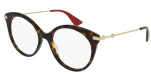 GUCCI GG0109O 002 Havana Round Women's 50 mm Eyeglasses