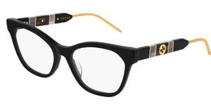 GUCCI GG0600O 001 Black Square Women's 54 mm Eyeglasses