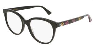 GUCCI GG0329O 004 Black Round Women's 53 mm Eyeglasses