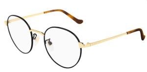 GUCCI GG0581O 006 Black Round Unisex Unisex 50 mm Eyeglasses