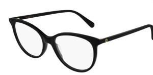GUCCI GG0550O 005 Black Oval Women's 53 mm Eyeglasses